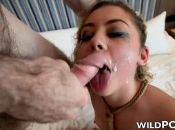 Curly Allie Addison facialized after POINT OF VIEW poon destruction