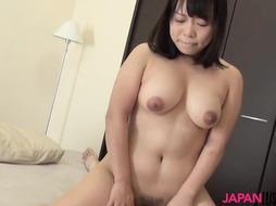 Teenager Aya Sakai fellates beef whistle before doggie fucky-fucky