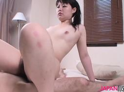 Chinese mature Aki Kitamura inhales Chinese pink cigar