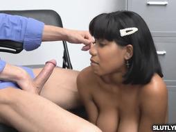 Nubile Jennas shaggy puss fucked by officer Ryan's lengthy impaler
