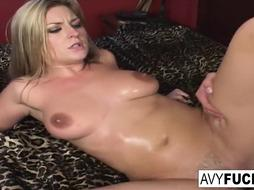 Huge-Titted Avy takes on a fat stiffy