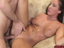 Desperate COUGAR Richelle Ryan pounds for money and spunk in throat