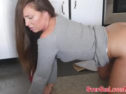 Teenie stepsis gets rode doggy style