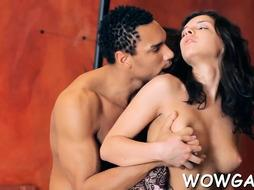 Ambitious beauty penelope getting packed up by meat rocket