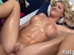Astonishing ash-blonde gets moist shagging