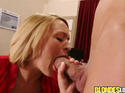 Krissy Lynn was dressed in a crimson half-shirt while she was getting ravaged in her office