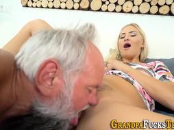 Nubile Gets Bum Spunked After Penetrating Oldy
