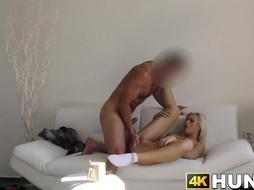 Light-Haired cheats on her cuck bf and fellates a ample manstick