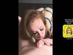 MISCHIEVOUS COUGAR GUZZLES GLASS OF HER STEPSON'S SPUNK AFTER ORAL JOB