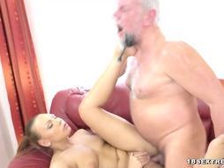 Senior Fur Covered Crank Smashing a marvelous scorching Teenie Porno Model