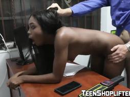 Dark-Hued teenager Tori Montana caught stealing gets poked rock-hard