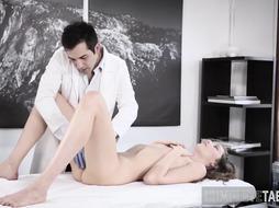 Teenage gets fetish poke and internal ejaculation
