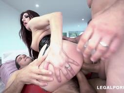 Nikki Chivalrous is a nasty black-haired in spandex stocking, who luvs to have mmf 3somes