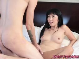 Chinese cougar gets oral job and rails man meat