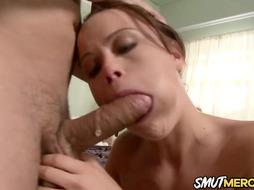 Brilliant Blowage and Fuck-Stick Railing by Stunner Kaci Starr Finishes with a Facial Cumshot