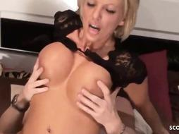 Huge breasted blondie is having fairly deep and satisfying ass fucking romp with her fresh paramour