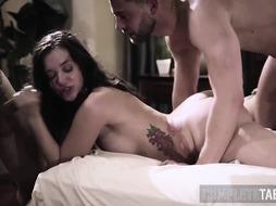 Teenager Gets Taboo Mass Ejaculation in Fetish Threesome