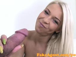 FakeAgent Internal Cumshot for smoking super-fucking-hot ash-blonde in Audition