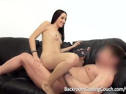 Teenager Impregnated and Bum-Fucked on Audition Sofa