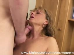 Youthfull Dude Lured by Mature Female