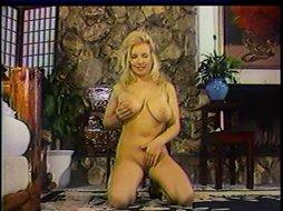 Blonde With Big Boobs Plays With Her New Sex Toy