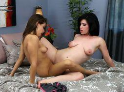 Lesbian couple eating each others pussy