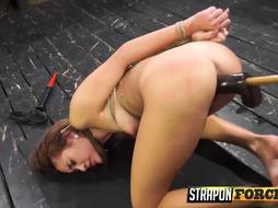 Femdom Fucking Girl Slave With StrapOn