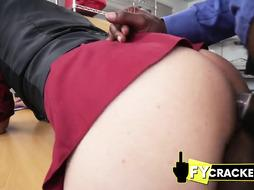 Preppie twink bows down to ebony dicks