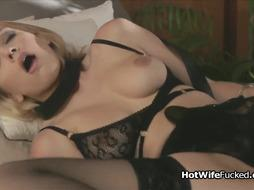 Big tit hotwife screams on hard cock