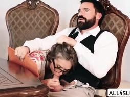 Lovely Lena gets her cute pussy banged