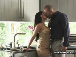 Beautiful Latina hotwife fucked hard