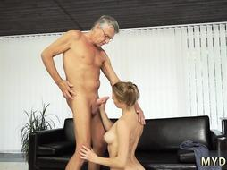 Loves her step daddy Sex with her boypartner´s father