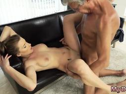 Daddy loud orgasm His rigid man meat was drilling her
