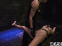 Domination tied and punished gangbang first time