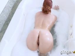 Redhead getting her wet twat pounded