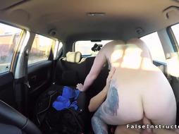 Big tits and butt redhead fucks examiner