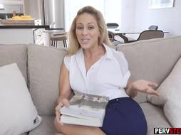 Horny stepson blackmailed a MILF stepmom