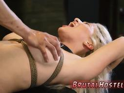Extreme outdoor bdsm and bondage play Big-breasted