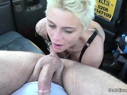 Big tits blonde wanks fake taxi drivers big cock