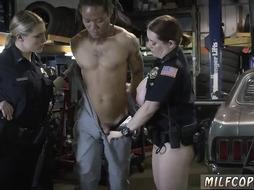 American amateur Chop Shop Owner Gets fucked by two horny cops