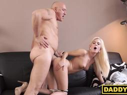 Teen hottie cheats on him with his daddy