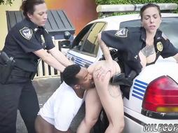 2 hot MIlf Cops Fucking a black guy