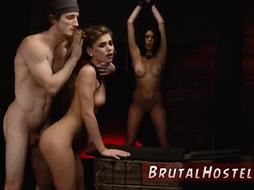 Face fuck slave and bondage throat first time Two