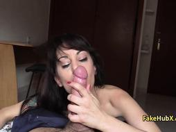 Cop tricked milf to fuck his cock