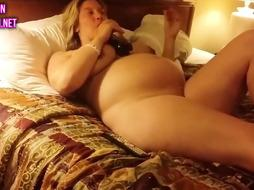 Cuckold shares a heavily pregnant wife