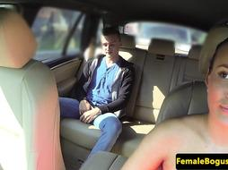 European cabbie pussyfucked on the backseat