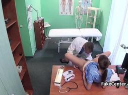 Perv doctor fuck busty nurse