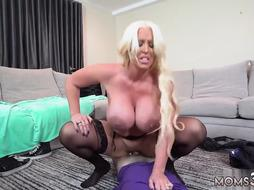 Milf wife fucked like a whore and mom hand stuck in