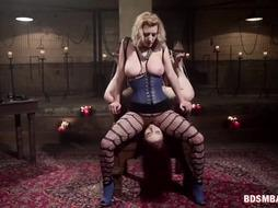 Wild Bdsm Lesbo Action With a Strap-on