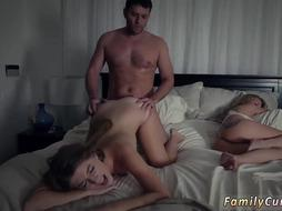 Step Dad is Fucking her daughter while her Mom is Sleaping